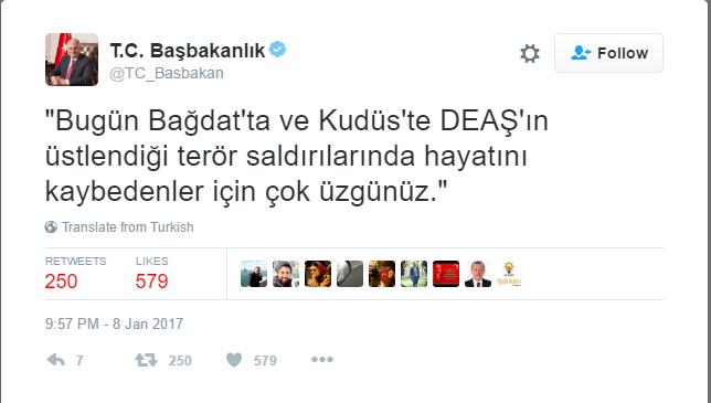 """شاهد : تركيا تصف عملية القدس ضد الجنود الإسرائيليين بـ """"الارهابية"""" ونائب أردوغان حزين لمقتل الجنود"""